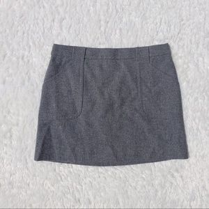 J Crew ~ Grey Wool Mini Skirt ~ Size 6